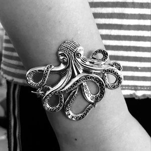 Jewelry - Metal Octopus Ancient Silver Bracelet Beach